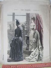 Vintage Print,SEPTEMBER 1886,Plate 653,Season,Fashion
