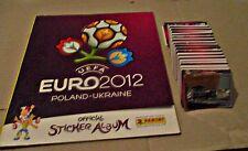 EURO 2012 - PANINI - EMPTY ALBUM AND ALL SET WITH STICKERS + COCA COLA SET