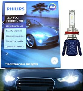 Philips Ultinon LED G2 White 6000K H11 Fog Light Two Bulbs Replace OE Fit Lamp