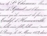 Sophie Tardif D'Hamonville Raymond Bouexic De Pinieux 1859