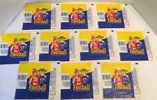Lot Of 10 1988 Tops Football Locks Wrappers