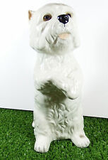 Large Glass Eyed Just Cats & Co West Highland White Dog