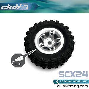 1/24 Scale 1.0 Custom Wheels ( B ) for SCX24 ( 4 Pcs Set, 7mm Hex )