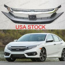 Front Bumper Upper Radiator Grille USA STOCK For Honda Civic 2016