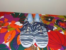 KEDS Champion Navy Blue Washed Beach Stripe Oxfords in Size 8-EUC Worn Once