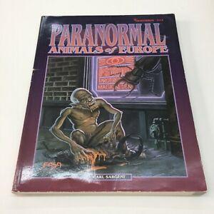 FASA CORPORATION SHADOWRUN SOURCEBOOK RPG PARANORMAL ANIMALS OF EUROPE (1993)