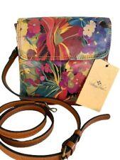 New Listing Patricia Nash Nwt Balluri Crossbody Bag Leather Citrus Sunrise Msrp $149