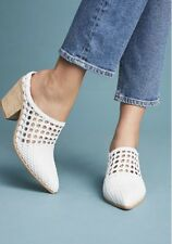 Jeffrey Campbell Bootie Mule Weaved Western white Leather 6 NIB