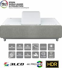 Epson EH LS500W 4K Enhanced 3LCD Ultra Short Throw Laser Projector - White