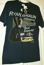 Ryan Braun Milwaukee Brewers shirt size M *** Officially Licensed Product ***