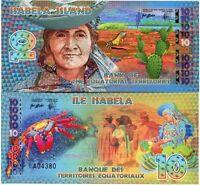 Bank Equatorial Territories Isabela Island 10 Equatorial Francs Fantasy Issue
