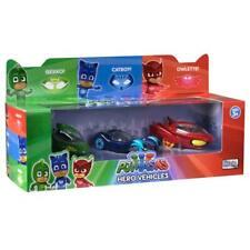 NEW PJ Masks Hero Vehicles Triple Set Diecast Cars Superhero Kids Fun Play Gift!