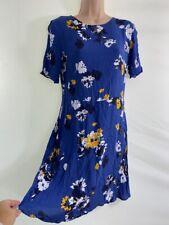 Neues AngebotBNWOT Next blau Blumenmuster Kurzarm Tea Kleid Größe 8 Euro 36