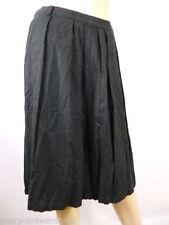 Knee Length Linen Patternless NEXT Skirts for Women
