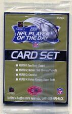 2005, NFL Player of The Day Card Set, Factory Sealed, Brady/Vick/Manning/CHKLIST