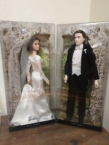 Breaking Dawn Bella & Edward Wedding Pink label Barbie Collection Dolls NEW.
