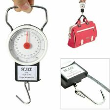 Portable Luggage Travel Scale Hanging Suitcase Hook 22kg 50lb w/Measuring Tape