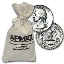 90% Silver Washington Quarters - $100 Face Value Bag - 90 Percent Silver