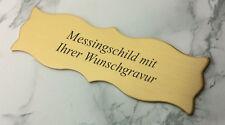 MESSINGSCHILD Türschild 125x40mm mit Klebestreifen - mit Ihrer WUNSCHGRAVUR