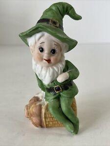 Vintage Porcelain Irish Leprechaun Elf Pixie Saint St. Patricks Day Taiwan