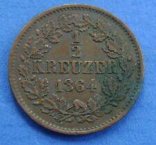 1864 Deutsches Reich - Germany - 1/2 kreuzer halbe kreuzer 1864 Baden