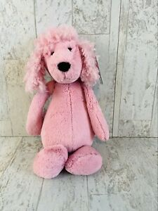 "Jellycat 12"" Bashful Poodle Pink Stuffed Animal NEW Puppy Dog Plush"