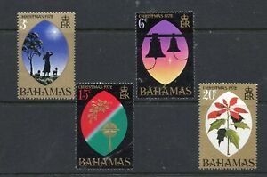 BAHAMAS STAMPS 1972  CHRISTMAS - FLOWERS,  HOLLY, BELL,  MINT NEVER HINGED