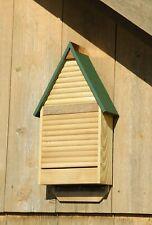 "Bat Houses - ""Brixton"" Bat House - Natural Finish - Green Roof - Garden Decor"
