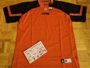 NWT BC Lions CFL Adidas Authentic Premier Jersey Men XXL 2XL