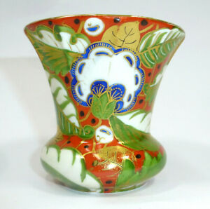 Seltene Art Deco Vase handbemalt