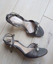 Ravel Beautiful Diamante Detail Ladies Grey Sandals UK 5 /38 New