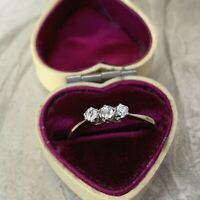 Antique Diamond Engagement Ring, Edwardian 18ct Yellow Gold & Platinum Band UK M