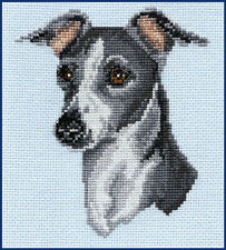 Italian Greyhound Gray and White by Pegasus Originals Counted Cross Stitch Kit