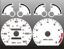 1993-1997 Ford Probe 4 cylinder Dash Cluster White Face Gauges 93-97