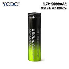 Rechargeable 18650 Li-ion Battery 3.7V 5800mAh For LED Light Headlamp Torch 11C