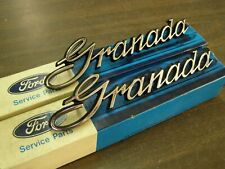 NOS OEM Ford 1975 1978 Granada Fender Emblems Ornaments Scripts 1976 1977