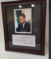 JOHN F KENNEDY Signed Bank Check & Photo!Please Note That The Check Is A Repica