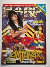 Vintage Magazine 1989 HARD ROCK with Helloween & Manowar posters.  FREE SHIPPING