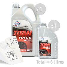 Car Engine Oil Service Kit / Pack 6 LITRES Fuchs Titan Race Pro S 10W-50 6L