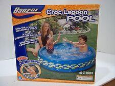 "Banzai Croc Lagoon Pool Inflatable KidsSwimming 60""  NIB"