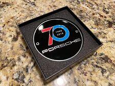 GENUINE PORSCHE GRILL GRILLE BADGE 70 YEARS 48-18 BLACK LIMITED WAP0507100K R55