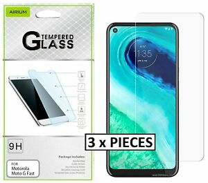 3 x Pieces - Clear Tempered Glass 2.5D Screen Protector for MOTOROLA Moto G Fast