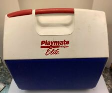 Igloo Playmate Elite Large Can Ice Cooler Chest Push Button Blue White Red USA