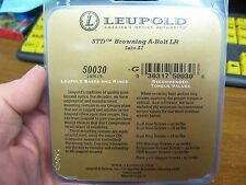 Leupold Scope Mount Base 50030 / 2 Piece / Browning A Bolt LR Sako A7 / Matte