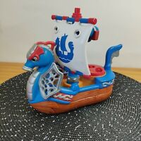 Fisher Price Imaginext Royal Ship 2005 JB214  Pirate Boat Viking Blue Red White