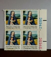 US Postage Stamps Scott #1799 Christmas Madonna & Child 15 cent Plate Block MNH