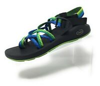 Chacos ZX2 Classic Womens Double Strap Toe Loop Sandal Blue Green Size 9