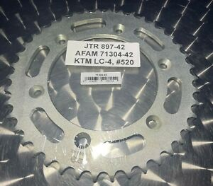 Steel Sprocket Ktm LC4, 625 Smc, SXC, Supermoto 690, 897-42, Color: Silver