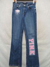 D1110 London Stretch Boot Cut Pink Enhanced High Grade Jeans Women 28x31