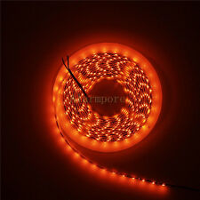 5M Orange SMD 3528 Flexible LED Strip Light 60leds/m Waterproof 12V Black PCB